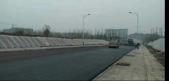 道路工程施工現場